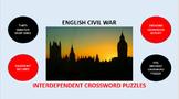 English Civil War: Interdependent Crossword Puzzles Activity