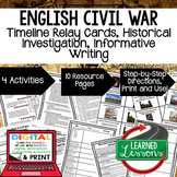 English Civil War Timeline, Investigation, & Writing (Paper and Google )