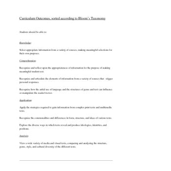 English Class Assessment Portfolio