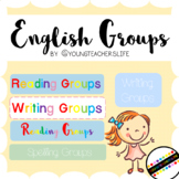 English Class Grouping Labels