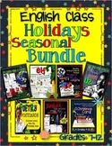 ENGLISH CLASS HOLIDAYS SEASONAL BUNDLE FOR MIDDLE SCHOOL AND HIGH SCHOOL