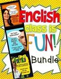 English Class is Fun Bundle! Ela Grades 7-12: Lessons, Video, Activities