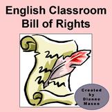 English Classroom Bill of Rights