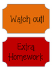 English Classroom Incentive (ESL French Tag)