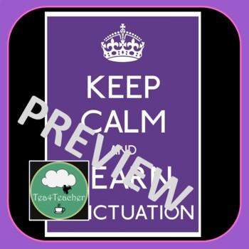 English Classroom 'Keep Calm' Posters x14
