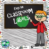 Illustrated Classroom Labels: English