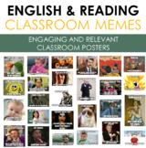 ENGLISH Classroom Memes (beginning of the year classroom design)