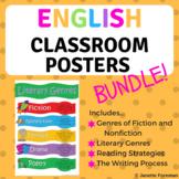 English Classroom Posters Bundle - Bulletin Board Ideas