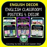 English Classroom Posters Decor BUNDLE ELA High School ELA