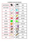 English Classroom Vocabulary