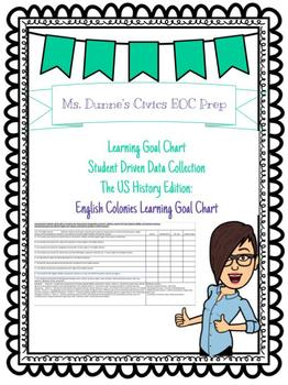 English Colonies Learning Goal Chart