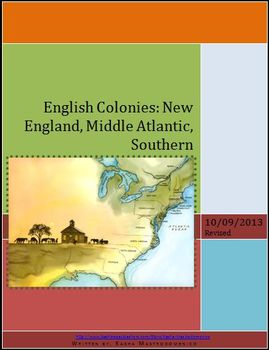 English Colonies: New England, Middle Atlantic, Southern Lesson Plan