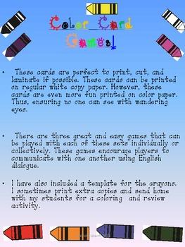 ESL Vocabulary Games: Colors