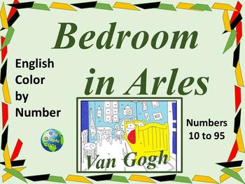 English Color by Number - Bedroom in Arles Van Gogh