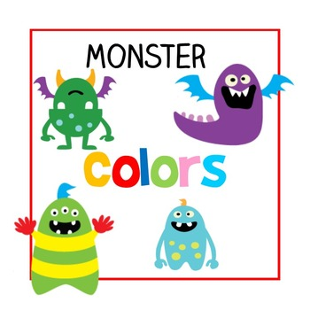English 'Colors' Posters (With Fun Monsters (: )