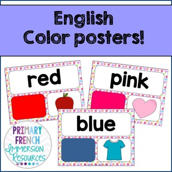 Colour posters / Color posters - English