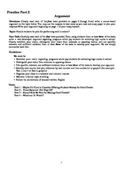 English Common Core Regents Practice Part 2 - Hot off the press!!