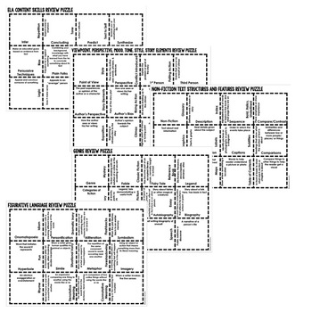 English Common Core Vocabulary Activity Puzzle (Print and Digital)