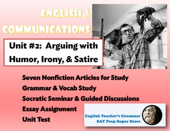English Communications Course Unit 2 Arguing From Humor