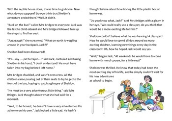 English Comprehension (Fiction) + Question page - approx 3rd Grade / Year 3