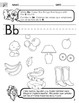 Alphabet - English Consonant Sound Worksheets with Spanish Instructions