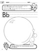 Alphabet - English Consonant Sound Worksheets with Spanish Instructions