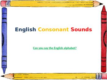 English Consonant Sounds
