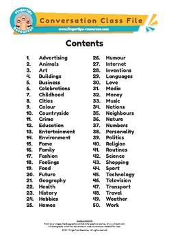 English Conversation Class File