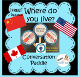 English Conversation Paddle (VIPKID GOGOKID) - Where do you live?