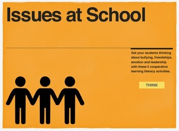 English Cooperative Learning Activities about Issues at School