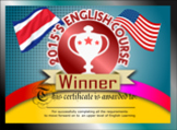 English Course Completion Certificate