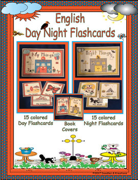 English Day Night Vocabulary Cards