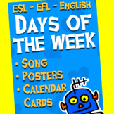 English Days of the Week Bundle - Flash Cards, Song, Poste