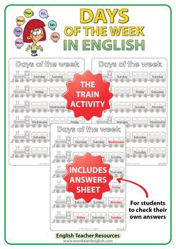 English Days of the Week - Bundle of ESL Activities