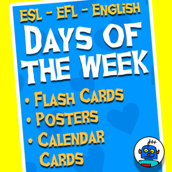 English Days of the Week Flash Cards & Calendar Cards