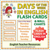 English Days of the Week - Flash Cards / Charts