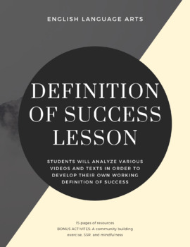 English - Definition of Success Lesson Plan (Ted Talks!)