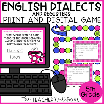 English Dialects and Registers Game | English Dialects and Registers Center