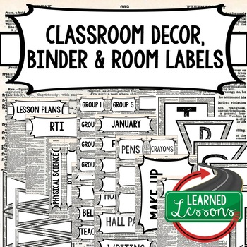 English Dictionary 3 Binder Covers and Classroom Labels