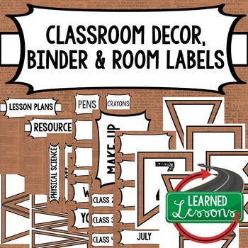 English Dictionary 4 Binder Covers and Classroom Labels