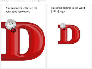 English Digital Letters, numbers and symbols decorate classroom - BeetleFlower