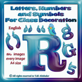 English Digital Letters, numbers and symbols decorate classroom - BlueBird