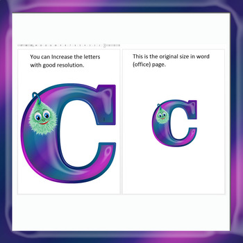 English Digital Letters, numbers and symbols decorate classroom - Bubi