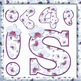 English Digital Letters, numbers and symbols decorate  classroom - Flower