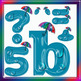 English Digital Letters, numbers and symbols decorate classroom - Rain