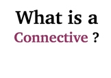 English - Display 'What is a connective?'