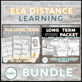 English At-Home Distance Learning BUNDLE- Long Term