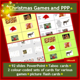 English, EAL, ESL Colorful Christmas Pack: taboo, pairs, 90+ slides