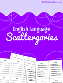 English / ESL / ELA Game: Scattergories! For Vocabulary Practice