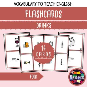 Flashcards to teach English/ESL: Drinks